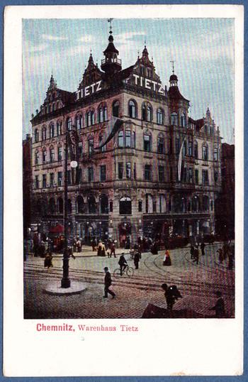 43c4a4a3109e8a Aber zurück zu Gerst und seiner zielstrebigen Warenhausgründung in Chemnitz  mit Übernahme im Jahr 1904 des etablierten Geschäftshauses an der Ecke  Post- und ...