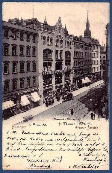b1439452bbe40c Folgend die Ansichtskarte gestempelt im Jahr 1904 und in der Mitte das Warenhaus  Tietz.