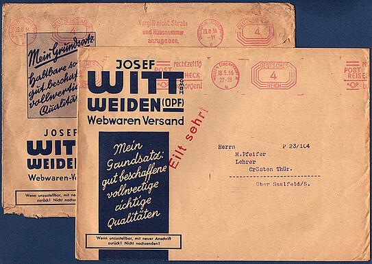 Briefmarken Gerade Klappkarte 500 Jahre Post Dina4 1990